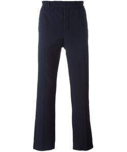 Emporio Armani | Textu Stripe Trousers Small Cotton/Spandex/Elastane/Polyamide