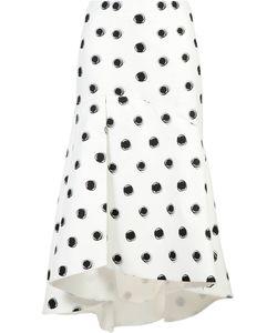Monique Lhuillier | Dotted Fla Skirt 6 Silk/Cotton