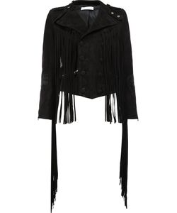 Faith Connexion | Fringe Detail Suede Jacket Size 36 Sheep