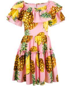 Dolce & Gabbana | Pineapple Print Dress 36 Cotton