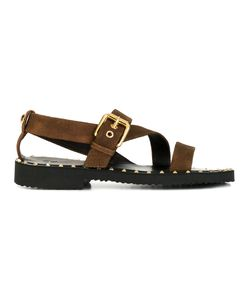Giuseppe Zanotti Design | Stud Detail Sandals 42.5 Suede/Leather/Rubber