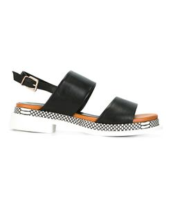 Robert Clergerie | Camas Sandals 5.5 Calf Leather/Leather/Rubber