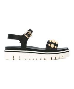 Baldinini | Stud Embellished Sandals Calf Leather/Leather/Foam