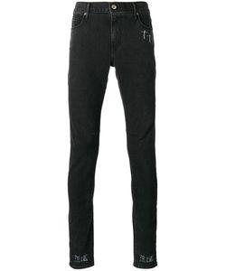 ROAD TO AWE | Logo Print Skinny Jeans 30
