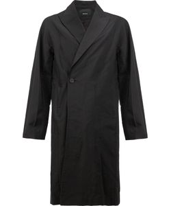 08SIRCUS | Peaked Lapel Midi Coat 7 Linen/Flax/Nylon/Cupro
