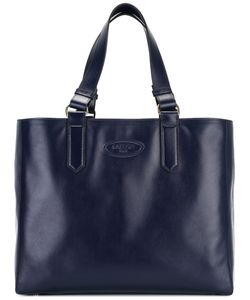 Lanvin | Logo Embossed Tote Calf Leather/Cotton
