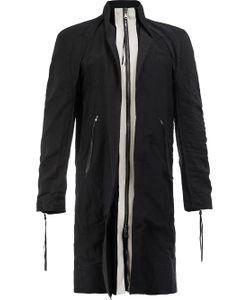 CEDRIC JACQUEMYN | Zip Up Contrast Coat