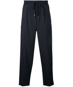 Monkey Time | Elastic Waistband Trousers Large Polyester/Wool