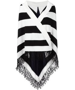 ANTONIA ZANDER | Striped Cape Cotton/Polypropylene/Cashmere