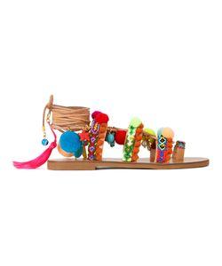 ELINA LINARDAKI | Penny Lane Sandals 35 Cotton/Calf Leather