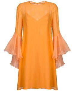 GALVAN | Платье С Волановыми Рукавами