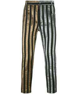 Haider Ackermann | Striped Trousers Xs Cotton/Polyester/Spandex/Elastane/Cotton