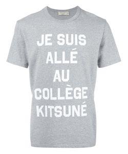 Maison Kitsune | Maison Kitsuné Je Suis Allée T-Shirt Large Cotton