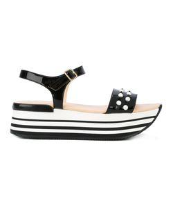 Hogan | Contrast Embellished Sandals