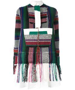 Sacai   Patchwork Detail Shirt Dress Size 1