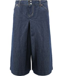 GANRYU COMME DES GARCONS   Wide-Legged Cropped Jeans Large