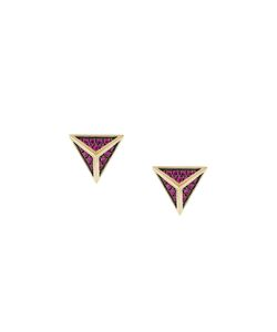 Noor Fares | Tetrahedron Stud Earrings Women 18kt