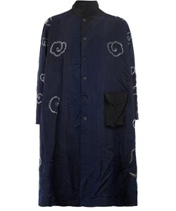 BY WALID | Contrast Embroidery Coat Small Silk