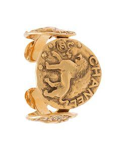 Chanel Vintage | Браслет На Запястье С Тисненым Львом На Медальоне Сс