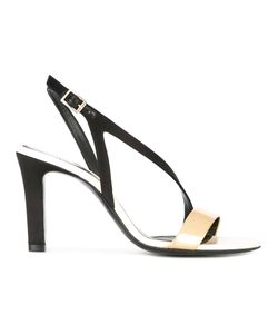 Lanvin | Cross Strap Sandals 38 Calf Leather/Goat Skin/Leather/Viscose
