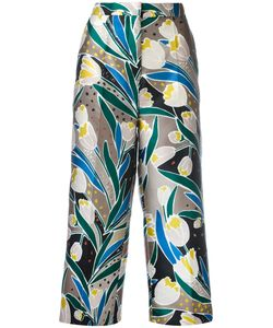 Rochas   Print Cropped Trousers