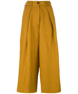 Forte Forte | High-Waisted Cropped Trousers I Linen/Flax