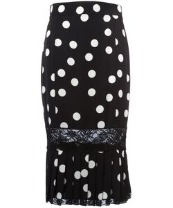 Dolce & Gabbana | Polka-Dot Pleated Pencil Skirt 40