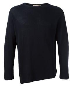 MAISON FLANEUR | Asymmetric Ribbed Knit Jumper 48 Cotton