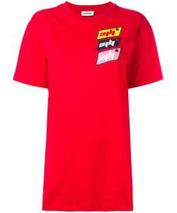 Au Jour Le Jour   Oversized Logo Patch T-Shirt 40