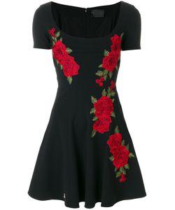 Philipp Plein | Расклешенное Платье С Цветочной Вышивкой