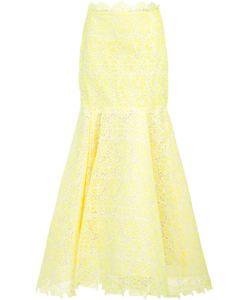 Monique Lhuillier | Lace Fla Skirt 8 Silk/Polyester