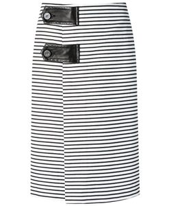 Reinaldo Lourenço | Striped Midi Skirt