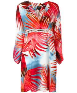 Just Cavalli | Palm Print Shirt Dress 42 Viscose