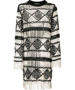 Nicole Miller   Fringed Dress M