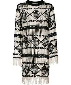 Nicole Miller | Fringed Dress M