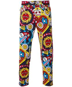 Love Moschino | Graphic Print Jeans 34 Cotton/Spandex/Elastane