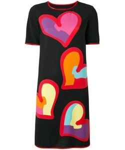 BOUTIQUE MOSCHINO | Heart Print T-Shirt Dress 42 Polyester/Other