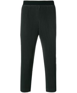 HOMME PLISSE ISSEY MIYAKE | Embossed Stripe Cropped Trousers Men