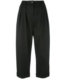 Moschino | Cropped Turn-Up Trousers