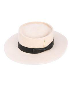 NICK FOUQUET   Шляпа С Контрастной Лентой