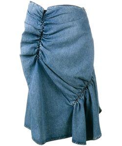 J.W. Anderson | J.W.Anderson Ruffled Denim Skirt 8 Cotton