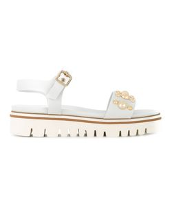 Baldinini | Stud Embellished Sandals Calf Leather/Leather/Metal