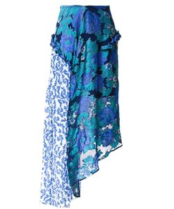 Preen By Thornton Bregazzi   Printed Flower Skirt Women