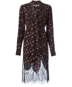 Mcq Alexander Mcqueen | Pintuck Peasant Dress 42 Silk/Polyamide
