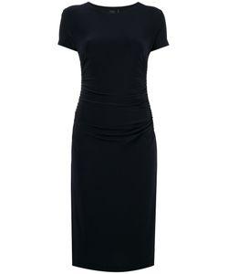 Norma Kamali   Shirred Waist Shortsleeved Dress Size Large