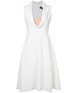 Paule Ka   Collared Plunge Neck Dress