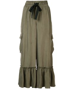 Cinq A Sept | Ruffled Cropped Trousers Size Xs