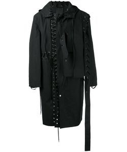CRAIG GREEN | Lace-Up Detail Coat Large Cotton