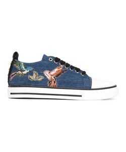 Red Valentino | Bird Patches Denim Sneakers 37 Cotton/Rubber/Cotton
