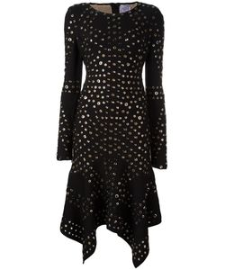 Hervé Léger | Eyelet Handkerchief Dress Medium Rayon/Nylon/Spandex/Elastane/Metal Other